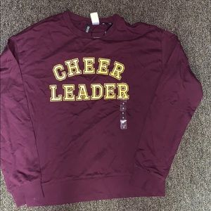 Divided burgundy  long sleeve t shirt